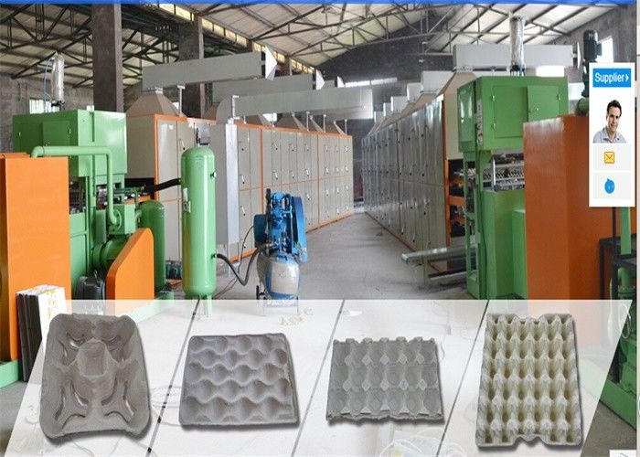 High Efficiency Paper Egg Crate Making Machine , Fruit Tray Making Machine